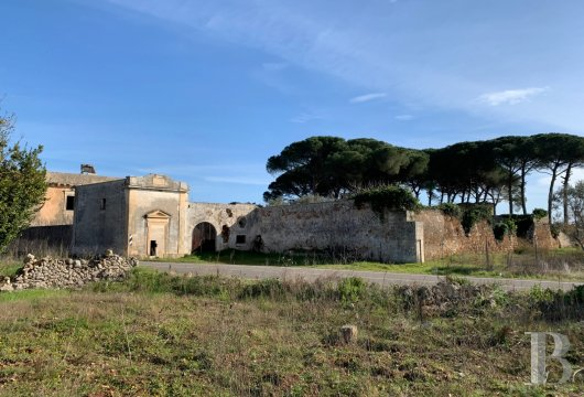 A 16th century, traditional masseria farmhouse awaiting renovation  in a 29-ha olive grove in the area around Lecce in the ...